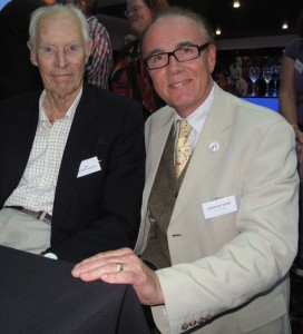 Graham Webb with Sir George Martin