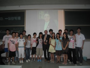 A happy group after my speech at Sun Yat Sen University, CHINA
