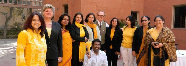 Graham with the team of the British Council, India after Graham's speech in Delhi.