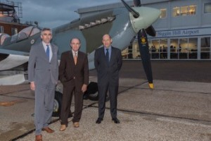 Graham at Biggin Hill for his speech to the Sevenoaks Chamber of Commerce